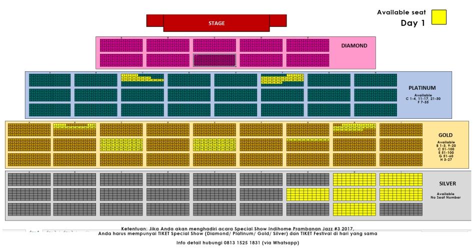 seat prambanan D1